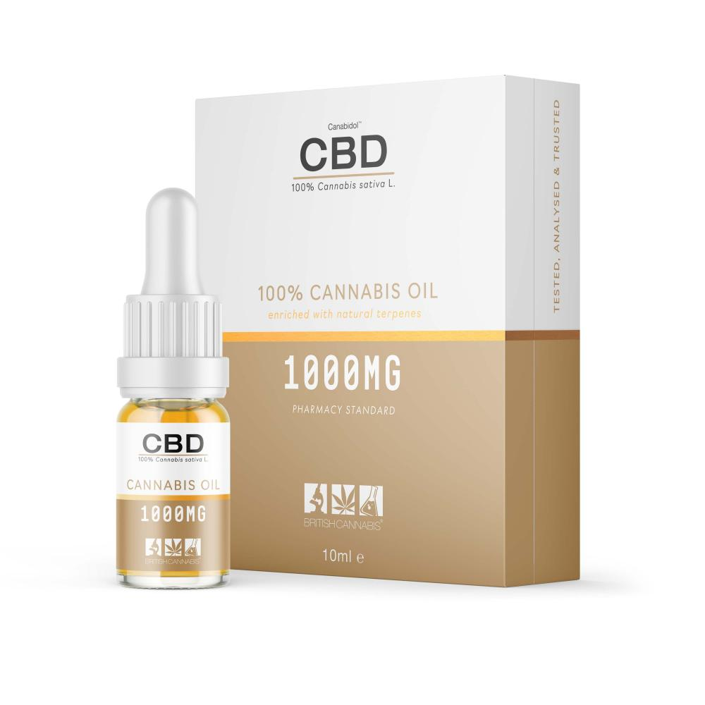 CBD Cannabis Oil 1000mg 10ml