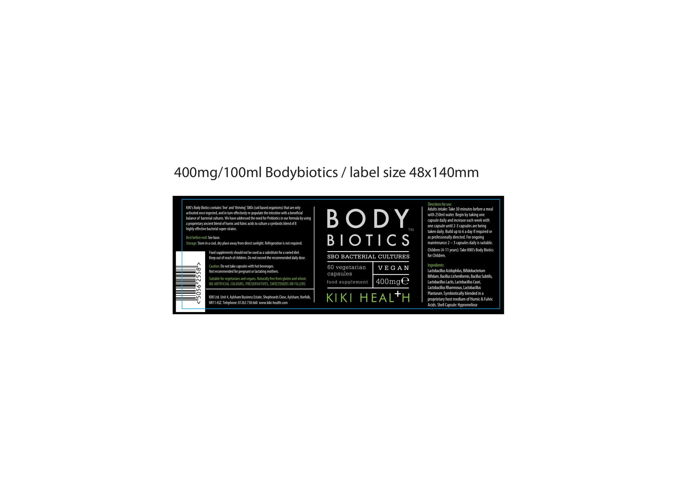 Body Biotics 400mg 60 S The Natural Dispensary