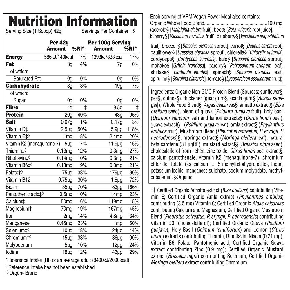 Source of Life Garden Vegan Power Meal - Bio, 645 g