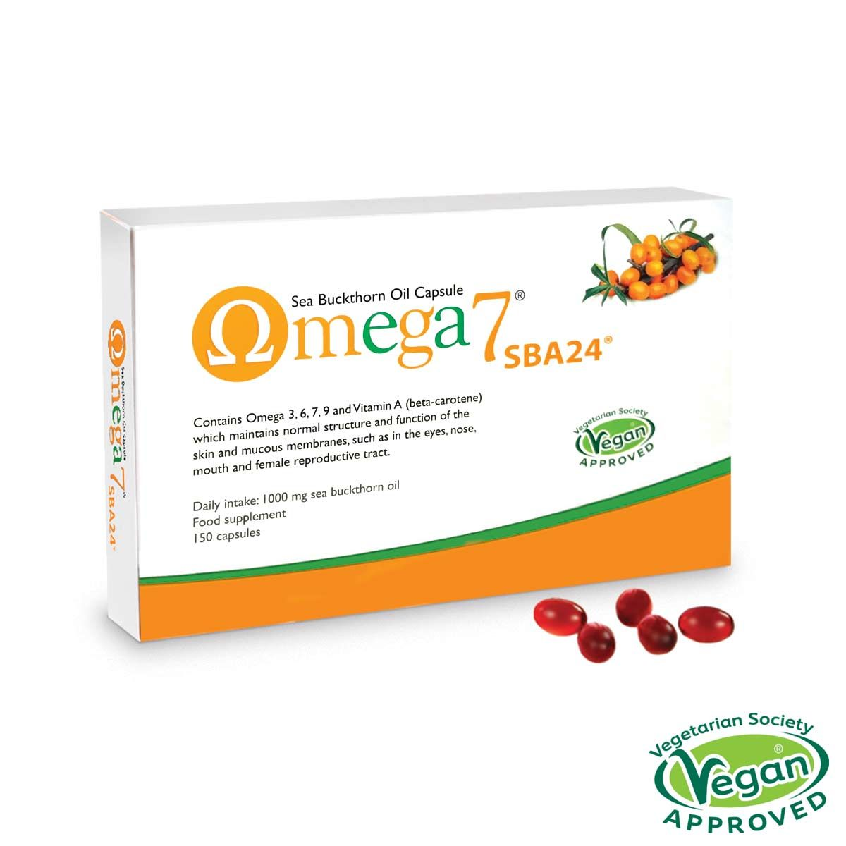Omega 7 - Sea Buckthorn oil (omega-3, 6, 7 & 9) 150 caps